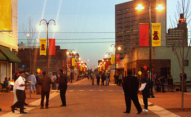 Farish Street at dusk